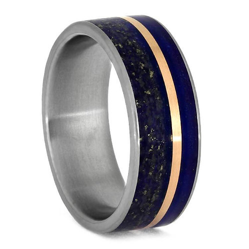 Lapis Titanium 14kt Rose Gold Ring