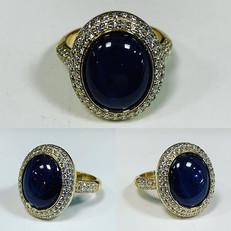 Intense natural blue star ⭐️ sapphire of