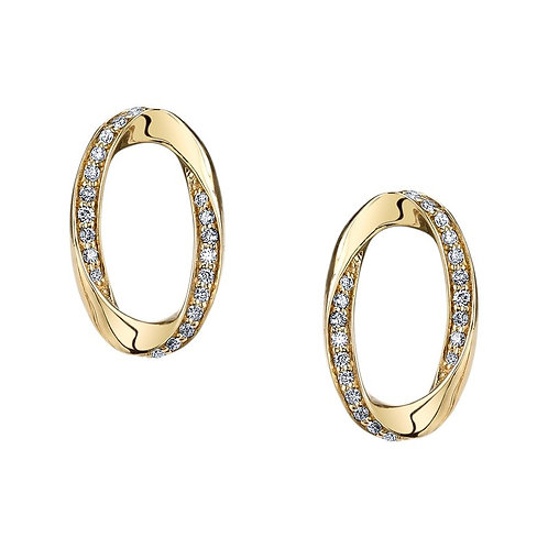 14kt Gold Designer Earrings