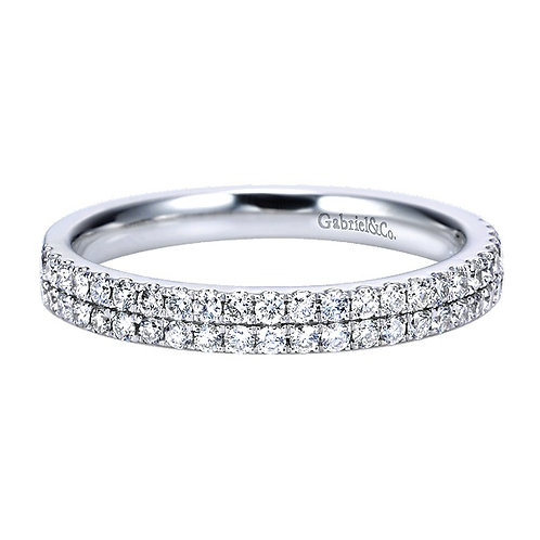 14kt Gold Moissanite Wedding Band