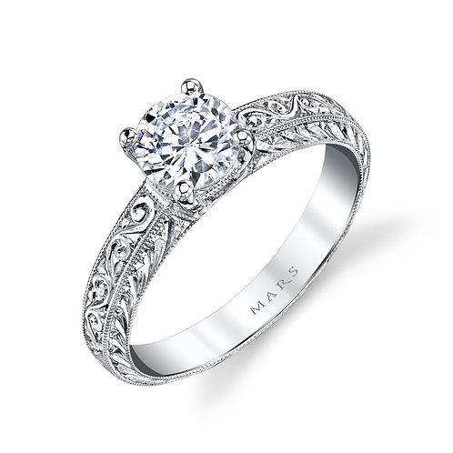 14kt Solitaire Engagement Ring.