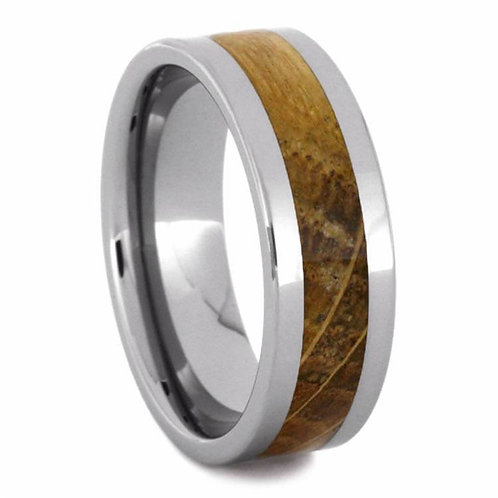 Tungsten oak wood band