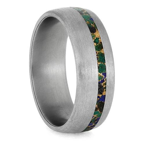 Gem Alloy Titanium Ring