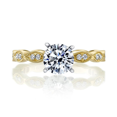 14kt Gold Art Deco Design Engagement Ring