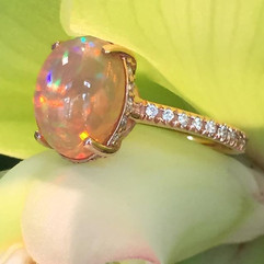Crystal opal in a rose gold mounting! #d