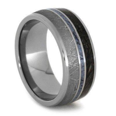 Meteorite Dinosaur Titanium Ring