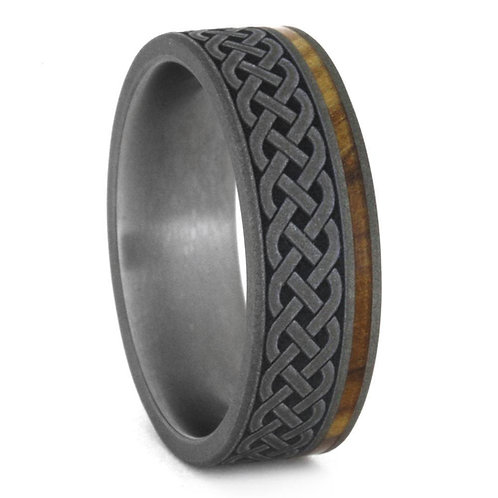 Celtic Ironwood TitaniumRing