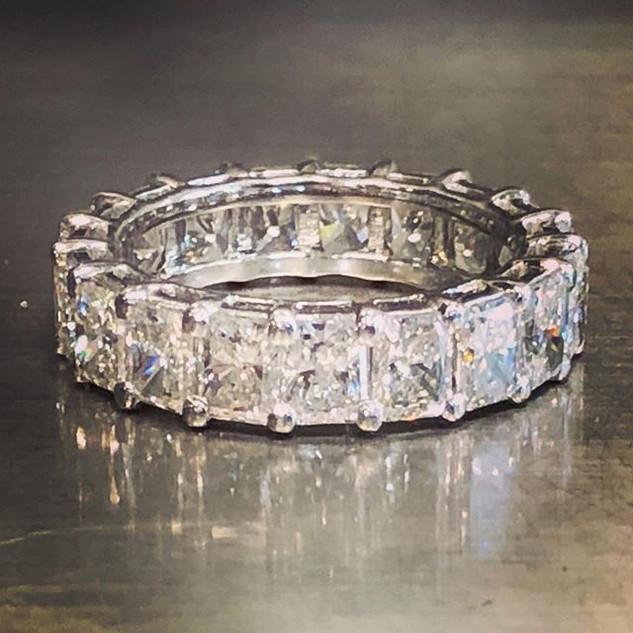 Beautiful diamond eternity band. #eterni