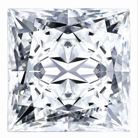 5.29 CARATS. MOISSANITE, Pure Light, E, F Color,  SQUARE BRILLIANT