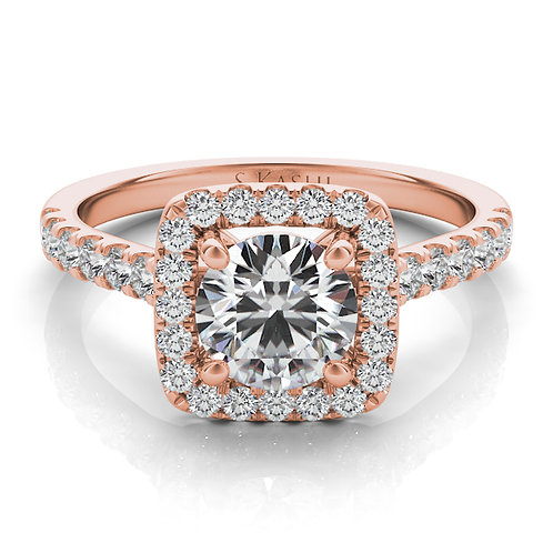 14kt Rose Gold Moissanite Engagement Ring