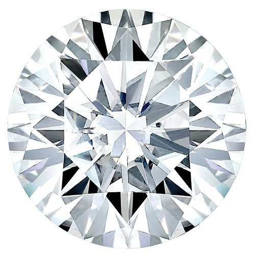 MOISSANITE, Pure Light, E, F Color, 2.11 CARATS, ROUND DIAMOND CUT
