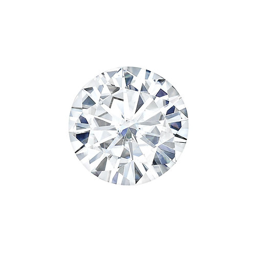 1.60 Carats, Charles & Colvard Forever One™ D-E-F Round Moissanite, 8.00 MM
