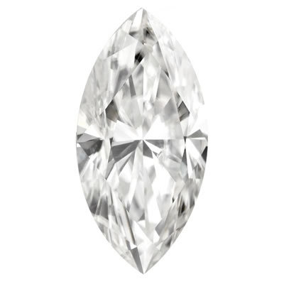 10X5mm = 0.90ct VVS1 Marquise Cut Colorless Certified NEO Moissanite