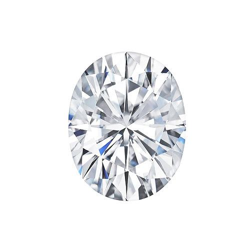2.70 carats, Charles & Colvard Forever One™ G-H-I Oval Moissanite, 10 x 8 MM