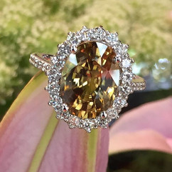 Beautiful intricate halo ring with fine