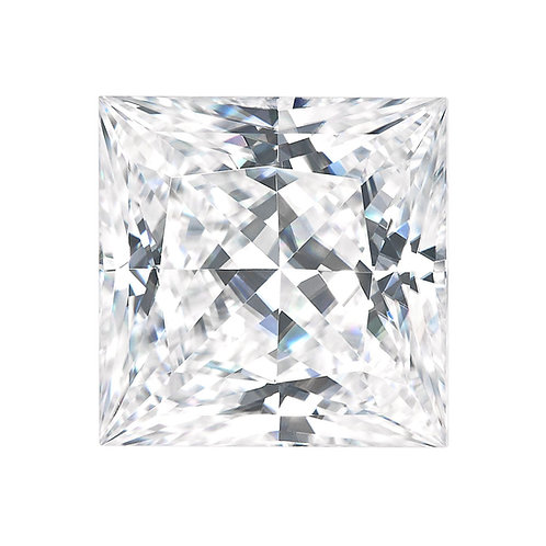 1.10 carats, Charles & Colvard Forever One™ D-E-F Princess Moissanite, 6.00 MM