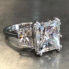6 carat plus center dreamy 😇😇 ring. A