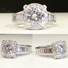 Designer diamond ring finished with roun