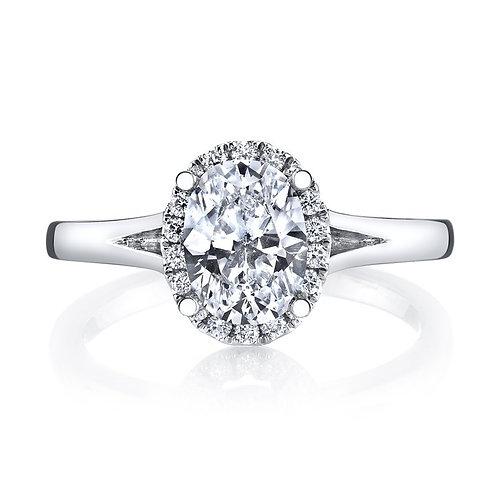 14kt Moissanite Halo Design Engagement Ring