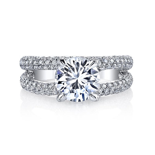 14kt Modern Moissanite Engagement Ring