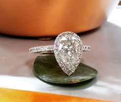 2 carat pear shape diamond with halo sma