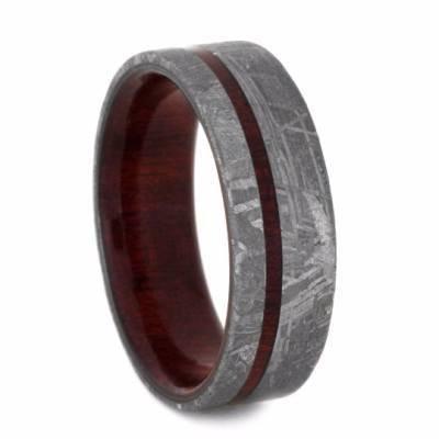 Meteorite Wood Ring