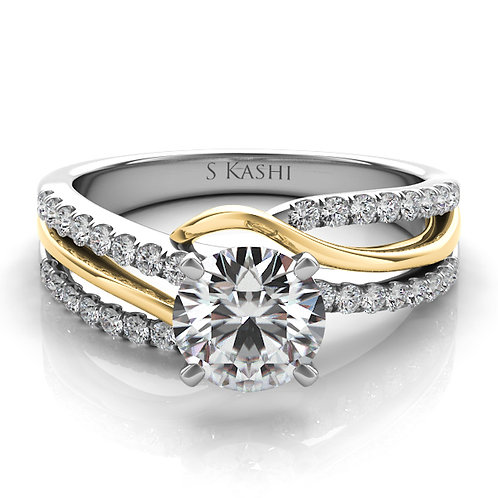 14kt Yellow Gold Moissanite Engagement Ring