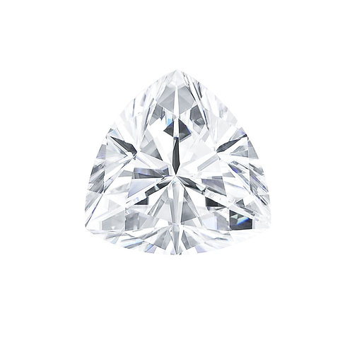 0.08 carats, Charles & Colvard Forever One™ D-E-F Trillion Moissanite, 3.00 MM
