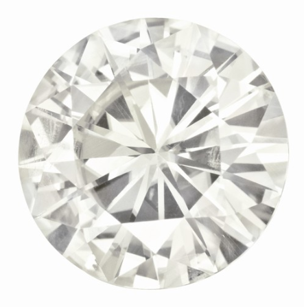 MOISSANITE, Pure Light, E, F Color, 4.72 CARATS,  ROUND TRADITIONAL CUT