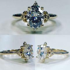 Beautiful Custommade yellow gold diamond