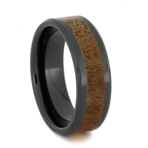 Wood black ceramic ring