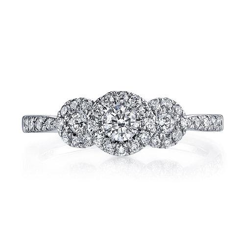 14kt Halo Moissanite  Design Engagement Ring