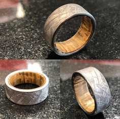 Raw Gibeon meteorite band with natural U