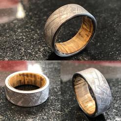 Raw Gibeon meteorite band with natural U