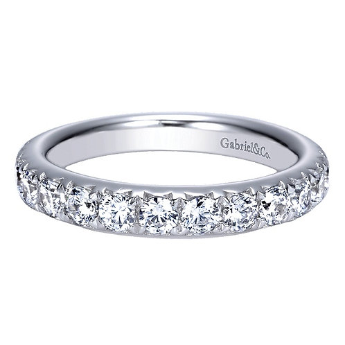 14kt Gold Moissanite Pave Band