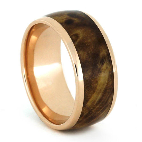 14kt rose gold wood band