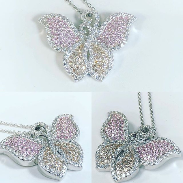Beautiful butterfly design dripped with