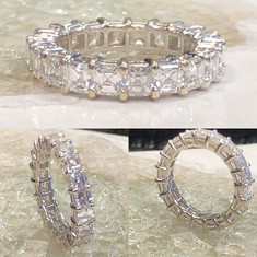 Eternity Asscher cut Diamond wedding ban