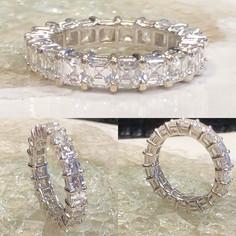 Eternity Asscher cut Diamond wedding ban