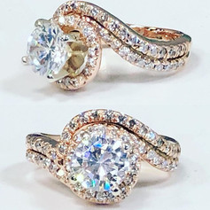 Beautiful twist design engagement ring f