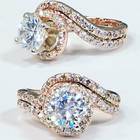 Beautiful twist design engagement ring f