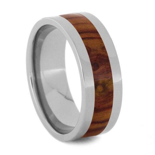 Titanium wood ring