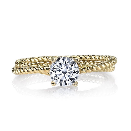 14kt Gold Solitaire Engagement Ring