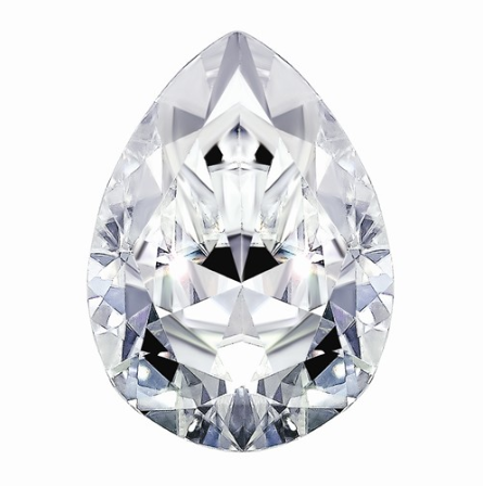 1.33 CARATS, MOISSANITE, Pure Light, E, F Color, 9X6MM PEAR