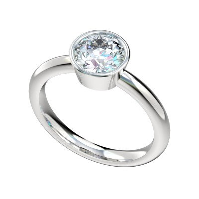 14kt Bezel Set Solitaire Engagemeng Ring