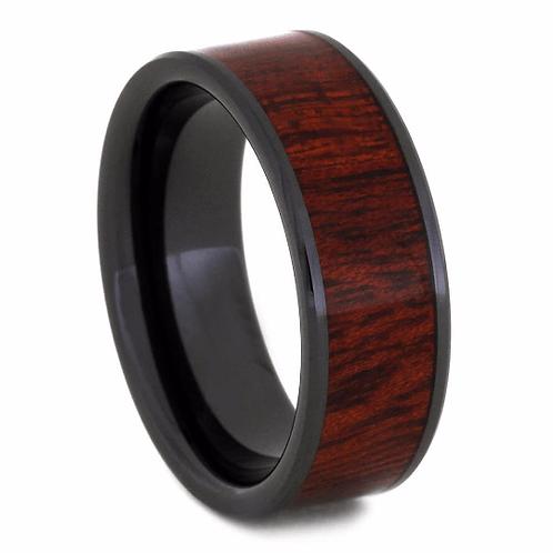 Black ceramic wood band