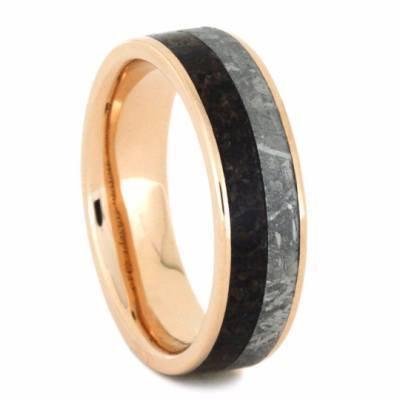 Meteorite 14kt Gold Dinosaur Ring