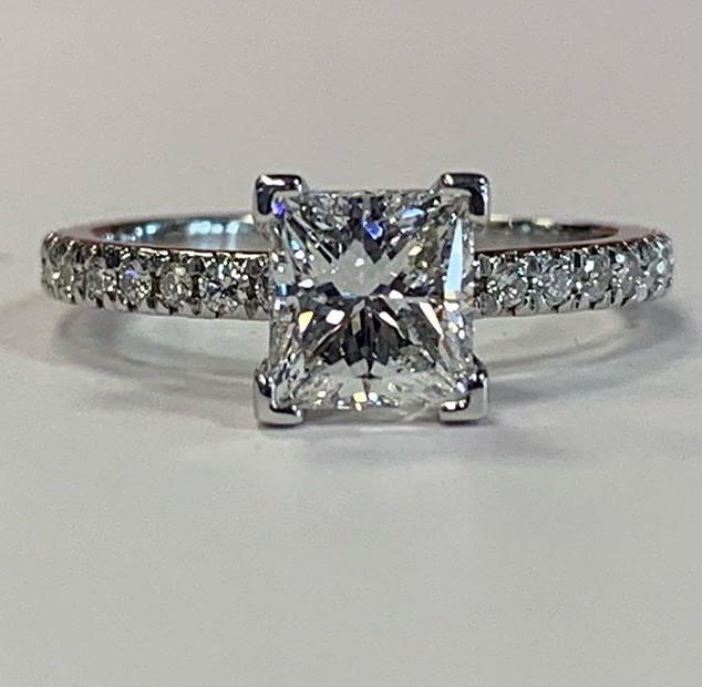 Beautiful diamond engagement ring fresh