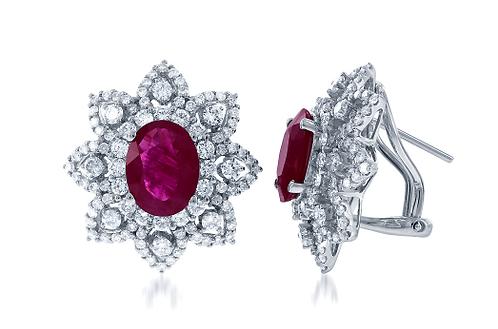Ruby and Diamond Earrings