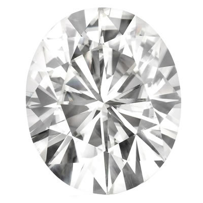 10X8mm = 2.72ct VVS1 Oval Cut Colorless Certified NEO Moissanite